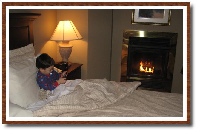 un petit feu et un petit jeu pour s'endormir