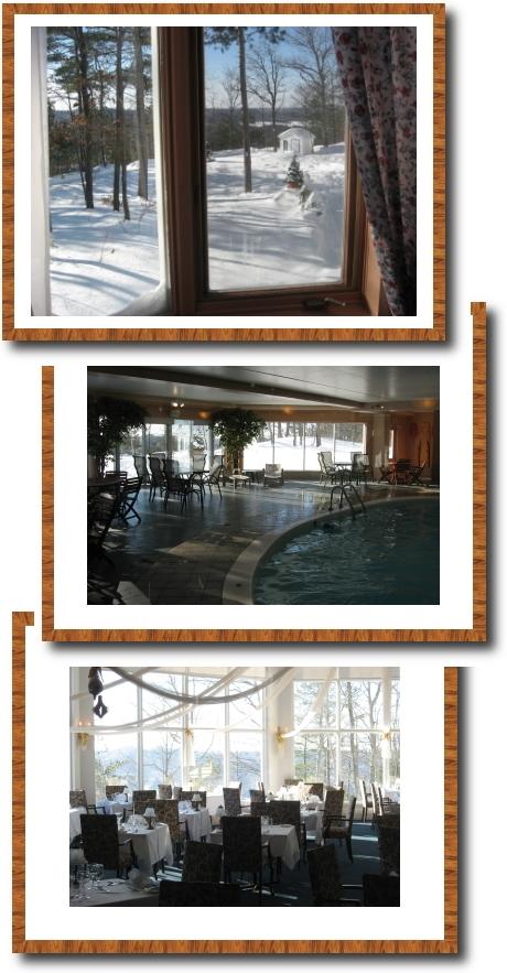 notre chambre, piscine et restau