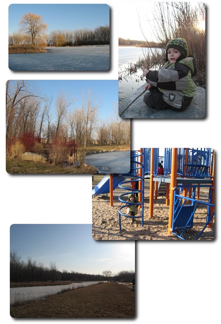 début du printemps au parc